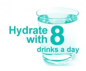 Hydrate with 8 logo