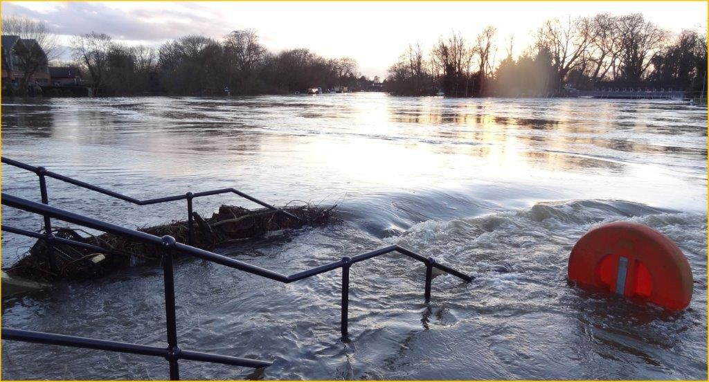 Weybridge Point in flood website