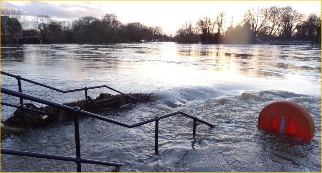 Weybridge Point in flood website